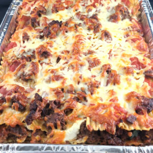 Four Cheese Meat Lasagna